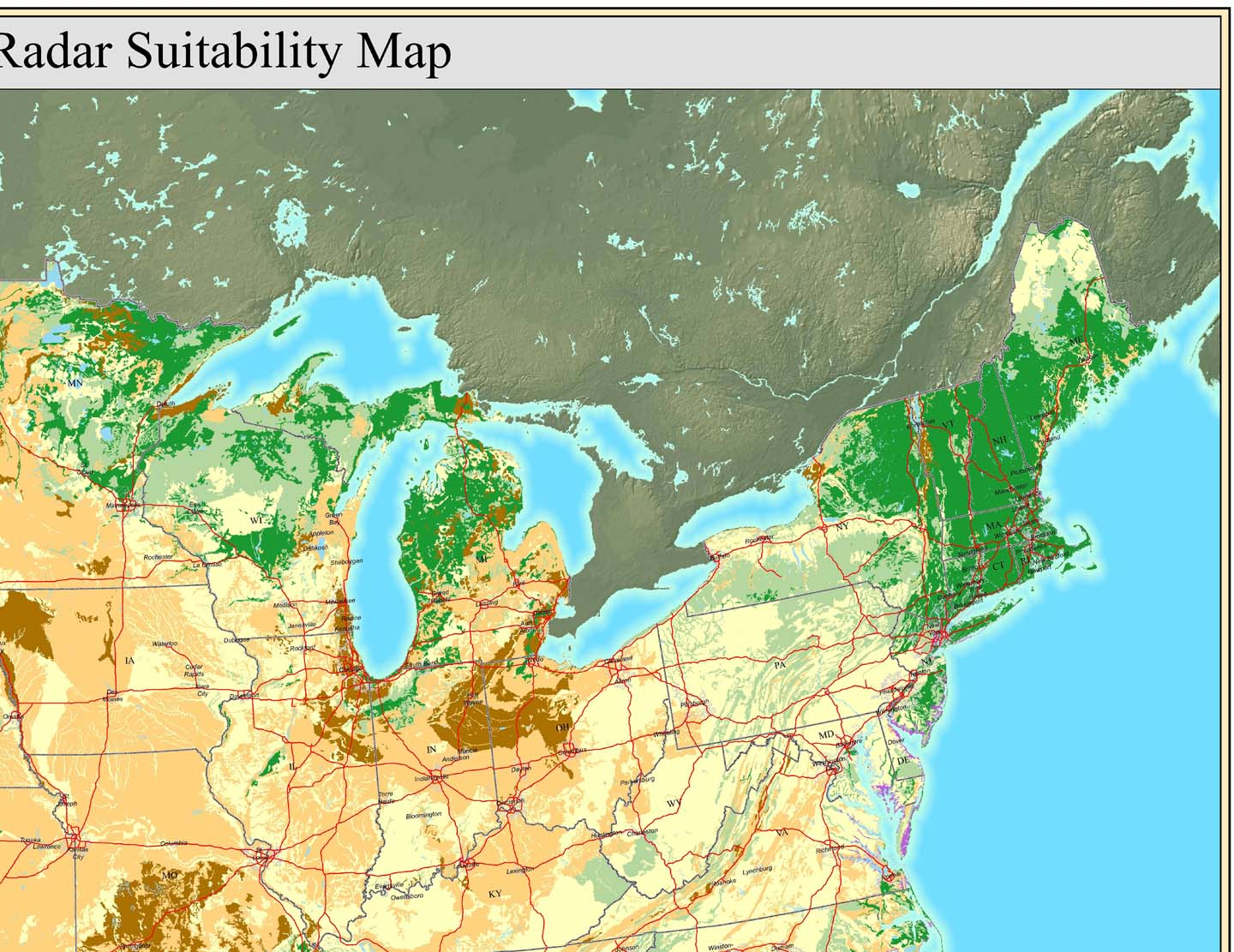 Where does GPR work see GPR Soils Map of NE United States