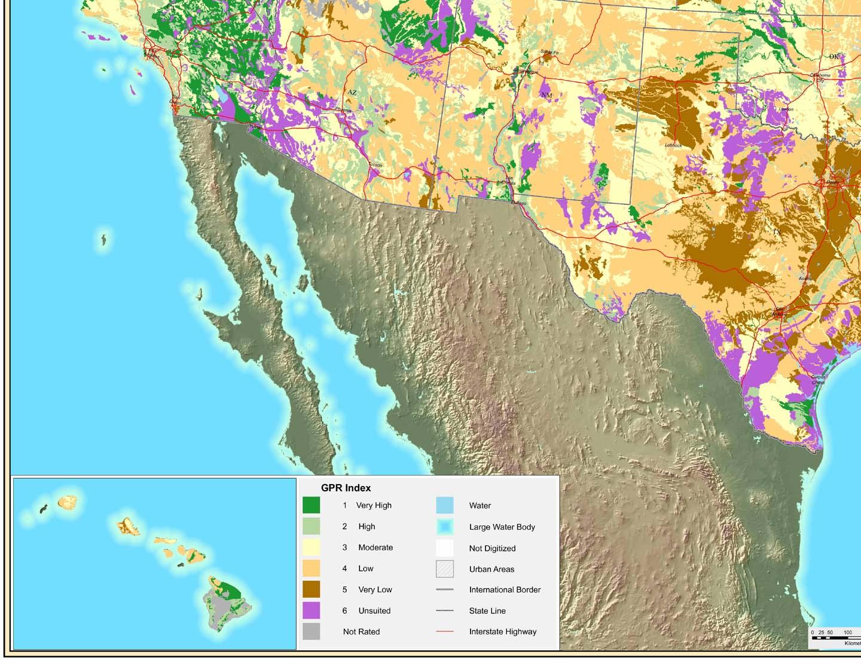 Suitability of Soils in SW US for Ground Penetrating Radar Surveys
